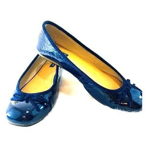 American Eagle Outfitters Navy Patent Flats. Sz 8